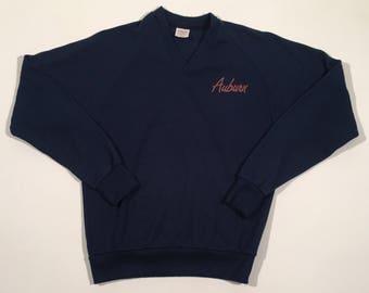 Vintage Auburn University V neck sweater medium
