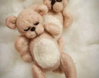 Felted teddy bear