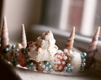 Mermaid Shell Crown // Shell Crown // Handmade Crown // Princess Crown // For Her // Costume Crown // Sea Queen Crown // Seashell Crown