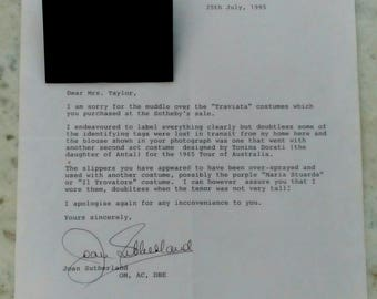 Joan Sutherland Signed Letters - 3