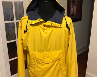 Vintage 1990's Gap Half Zipper Hooded Windbreaker