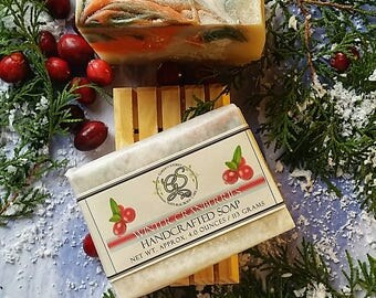 Cranberry, Handcrafted Soap, Stocking stuffer, Gift soap, Natural Soap, Vegan soap, Handmade bar soap