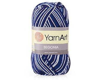 YarnArt Begonia Melange - Choose colour - Cotton Yarn - Crochet Yarn - 100% Mercerized Cotton - Summer Yarn - organic cotton yarn