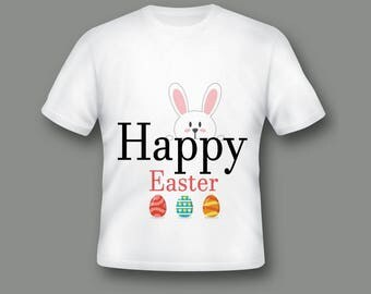 Happy Easter Custom Shirt, Easter 2018 Shirt, Easter Toddler Outfit, Easter T-Shirt, Cute Easter Shirt, Easter Bunny Shirt ;51000168