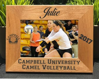 Volleyball // Personalized Engraved Photo Frame // Picture Frame // Gift