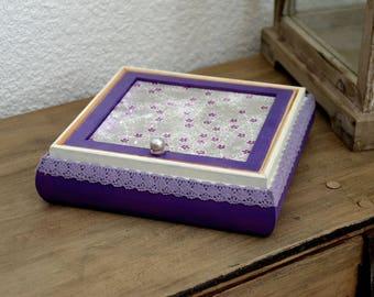 "Jewelry box with mirror ""Rétro"""