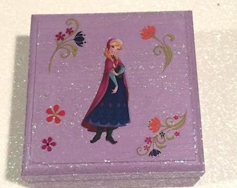 Princess Anna Jewelry/Keepsake/Memory Box; Princess Jewelry Box; Frozen