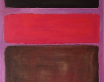 Hand Painted Mark Rothko Inspired No. 16 Painting Reproduction On Canvas