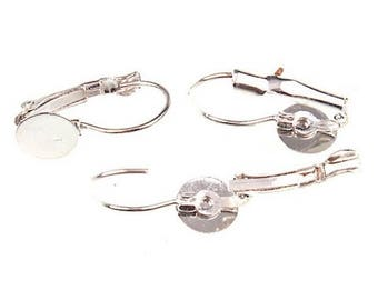 10 accessory loops from ear holder tray silver sleeper fimo