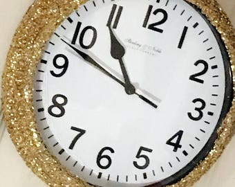 Glitter Clocks, Wall Clocks, Clocks, Glitter Wall Decor, Glitter Wall Art