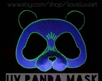 festival glow in the dark panda felt mask adult panda felt mask cosplay dress - Kung Fu Panda Halloween