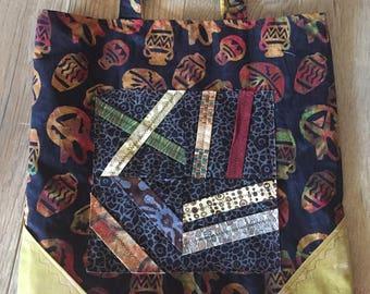 Batik Southwest Pottery Print Market-Travel Bag