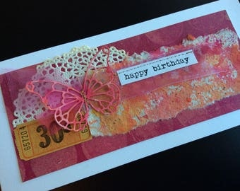 Handmade Art Card - Happy Birthday