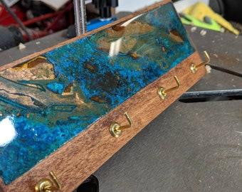 Key Holder for Wall.  Copper Patina.  Metal Art. Wall Decor. Key Rack. Key Hooks. Key Sorter. Custom Made. Handmade.  Abstract Art.