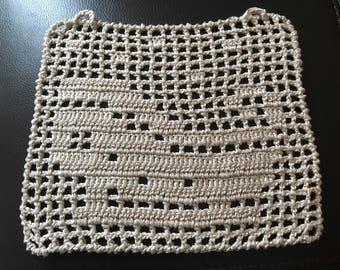Crochet beige sleigh