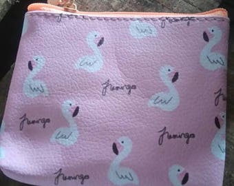 "small coin purse ""Flamingo Pink"""