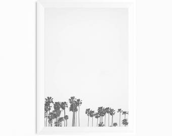 Black and White Palm Trees Print, Beach Palms, Coastal Wall Art, Palm Trees Wall Art, Palms Poster, Palms Photography, Coastal Decor Print