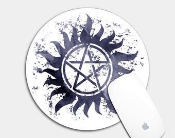 Supernatural Mouse Pad, Supernatural Art, Mouse Pad, Supernatural Lover, Supernatural Fan, Supernatural Gifts, Supernatural Desk Accessory