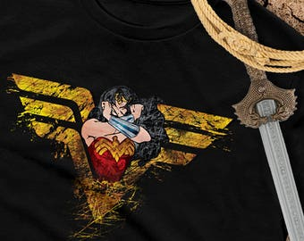 Wonder Woman Shirt - Wonder Woman tshirt - Superhero tee - Super hero unisex top - Original wonder woman art - Custom wonder woman T shirt