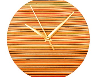 Recycled Skateboard Wall Clock (7 Inches Diameter)