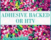 LP Inspired Floral Pattern #3 Adhesive or HTV Heat Transfer Vinyl for Shirts Crafts and More!