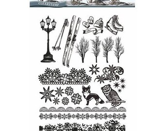 Clear stamps scrapbooking AMY DESIGN WINTERTIDE transparent