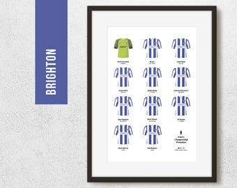 BRIGHTON 2016-17 Championship Promotion Winners Football Poster Art Print *FREE UK Delivery* Gift Idea