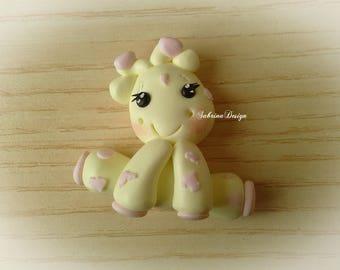 Giraffe polymer clay girl favor baptism baby shower favors birthday safari party animals favors