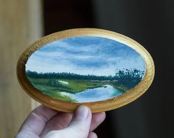Oil Landscape Painting of Maui - Landscape Painting - Oil Painting - Painting - Mini Art - Hawaii Painting - Maui Painting