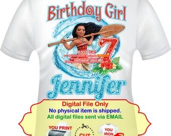 Moana Iron On, Moana Transfer, Moana Birthday Girl, Moana Mommy, Moana Daddy, Moana Family Shirt, Moana Party, Moana Shirt Decal - MOANA2-2
