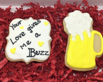 Your love gives me a buzz cookies Gift Set