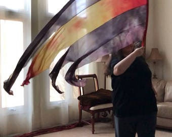 Prophetic - Silk Flag - Worship Flag - Praise Dance - Dyed Silk - Streamer Flag called Battlefield of the Mind