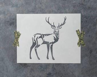 Deer Stencil - Reusable DIY Craft Stencils of a Buck Deer