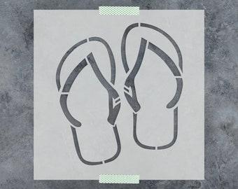 Flip Flops Stencil - Reusable DIY Craft Stencils of Flip Flop Sandals