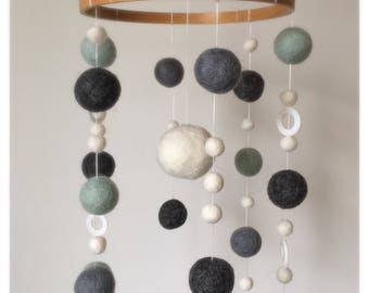Felted Wool Mobile <<Serenity>>