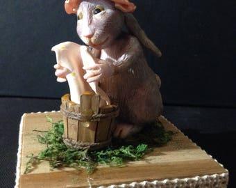 Coniglietta che fa il bucato/ Ooak lady bunny doing laundry