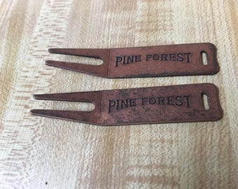 Vintage Copper Divot Tool Pine Forest