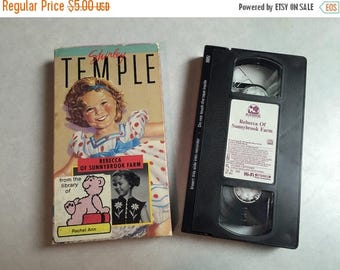 SummerSpecial10% VHS Movie, Shirley Temple, Randolph Scott, Rebecca of Sunnybrook Farm, 1988 Black & White, Inv0633,