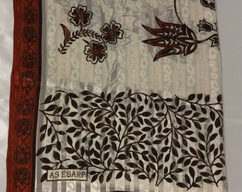 Dark orange and brown scarf, Turkish scarf, shawls.