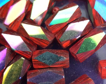 Loose Red Glass beads, Glass Beads, Red Beads, Wholesale #1654