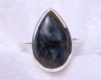 Natural Pietersite Jasper Ring 925 Solid Sterling Silver Ring Anniversary Ring By Plutus Jewel World
