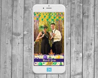 Mardi Gras Snapchat Geofilter