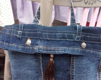 Jeans with a handle bag