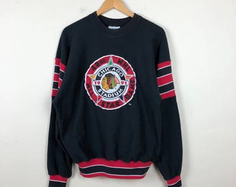 Vintage CHICAGO Blackhawks Sweater Size M, Chicago NHL Sweater, Vintage Hockey Sweater