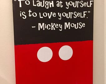 Mickey Mouse Quote 8.5x11 Canvas