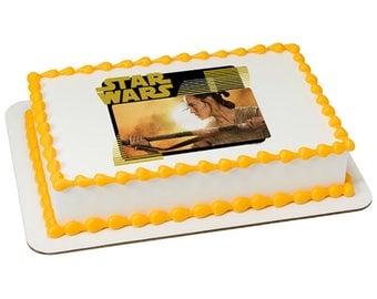 Star Wars The Force Awakens Rey Edible Cake Topper