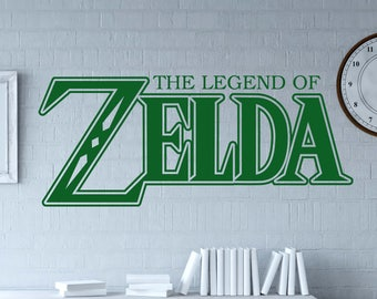 The Legend of Zelda Breath of the Wild decal - room in Zelda style (unofficial) - Zelda logo - Removable Wall decal for Nintendo gamer -GS16