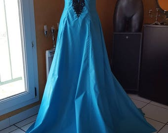 Turquoise medieval fairy dress