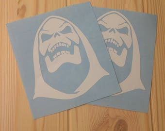 Skeletor vinyl decal, Masters of the Universe decal, 80's cartoons, HeMan decal, gifts under 5