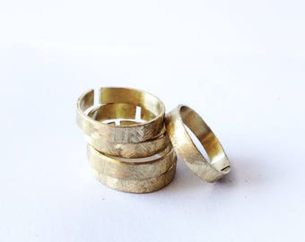 Thin rings adjustable brass ring.
